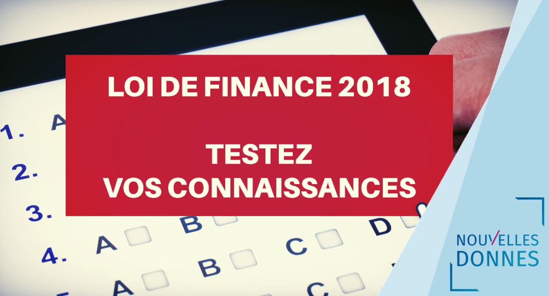 Loi de finances 2018