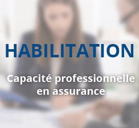 Capacité Professionnelle en Assurance – Niveau 1 – Habilitation 150h