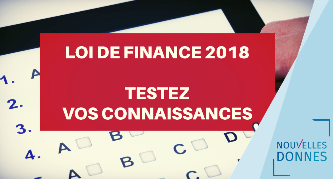 Loi de finances 2018