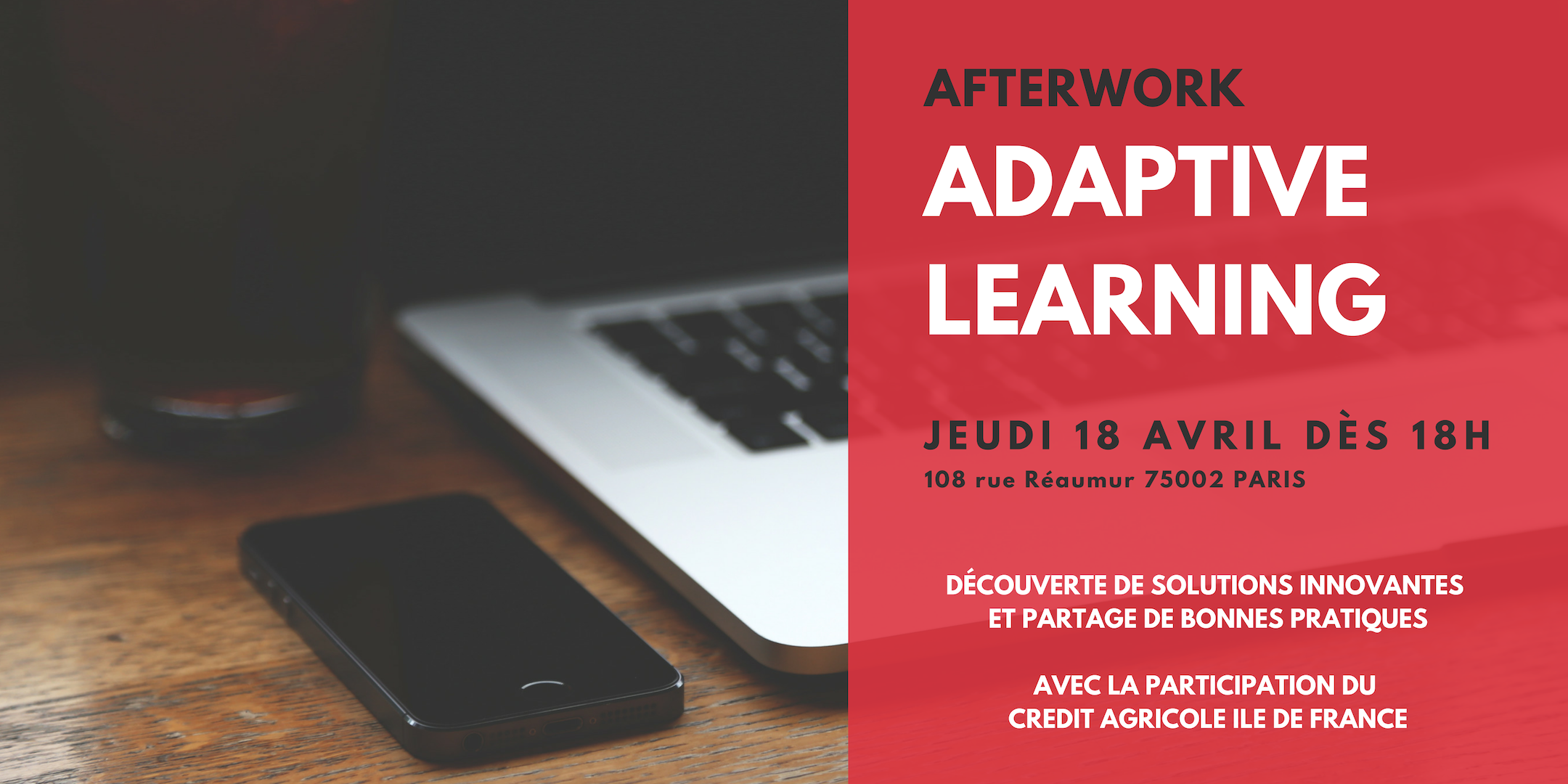 Afterwork Adaptive Learning le 18 avril