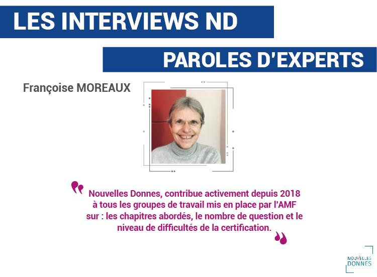 Interview de Françoise Moreaux – Experte AMF chez Nouvelles Donnes